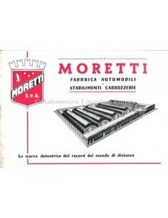 1959 MORETTI RANGE BROCHURE ITALIAN