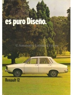 1976 IKA RENAULT 12 BROCHURE SPAANS