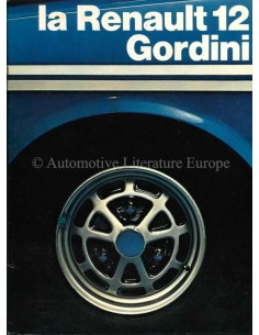 1972 RENAULT 12 GORDINI BROCHURE FRANS
