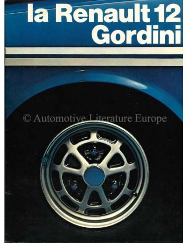 1972 RENAULT 12 GORDINI BROCHURE FRENCH