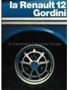 1972 RENAULT 12 GORDINI PROSPEKT FRANZOSISCH