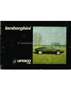 1974 LAMBORGHINI URRACO P300 INSTRUCTIEBOEKJE