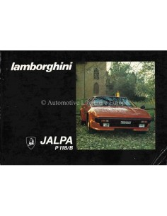 1981 LAMBORGHINI JALPA P118/B OWNERS MANUAL