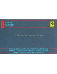 1984 FERRARI MONDIAL CABRIOLET GARANTIEKARTE & WARTUNGSPLAN 254/83