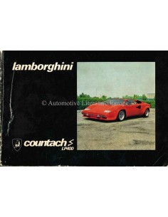 1978 LAMBORGHINI COUNTACH LP400 S OWNERS MANUAL