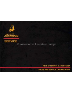 1989 LAMBORGHINI SALES & SERVICE ORGANIZATION HANDBOOK