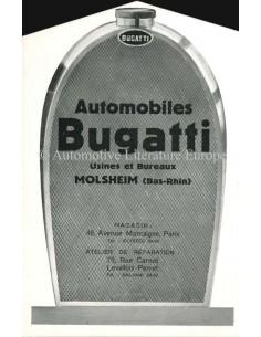 1929 BUGATTI PROGRAMMA BROCHURE FRANS