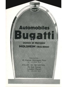1929 BUGATTI RANGE BROCHURE FRENCH