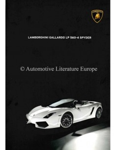 2009 LAMBORGHINI GALLARDO LP 560-4 SPYDER BROCHURE ENGLISH