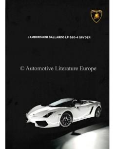 2009 LAMBORGHINI GALLARDO LP 560-4 SPYDER PROSPEKT ENGLISCH