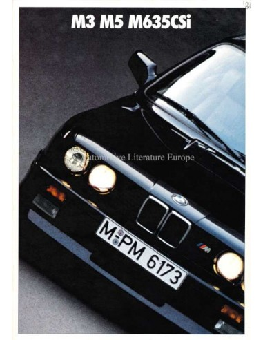 1987 BMW M3 M5 M635CSI BROCHURE GERMAN