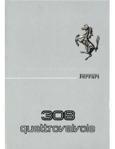 1982 FERRARI 308 GTB & GTS QUATTROVALVOLE BETRIEBSANLEITUNG 248/82