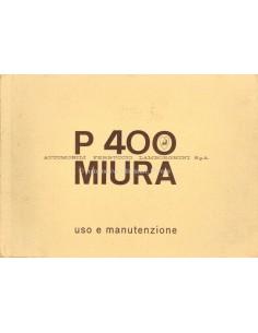 1967 1966 LAMBORGHINI MIURA P 400 INSTRUCTIEBOEKJE ITALIAANS400 GT INSTRUCTIEBOEKJE ENGELS SCHAARS
