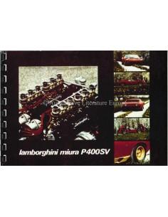 1971 LAMBORGHINI MIURA P400 SV  INSTRUCTIEBOEKJE ITALIAANS / FRANS / ENGELS