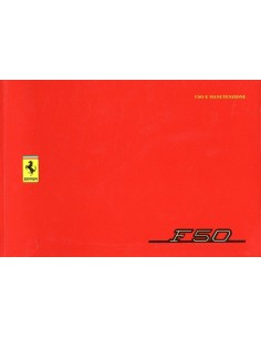 1995 FERRARI F50 OWNERS MANUAL HANDBOOK 1034/95