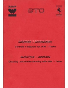 1985 FERRARI 288 GTO INJECTION - INGNITION SERVICE MANUAL ITALIAN / ENGLISH