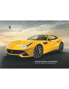 2019-2020 FERRARI GENUINE ACCESSORIES PROSPEKT ENGLISCH