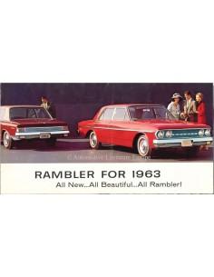 1963 RAMBLER PROGRAMMA BROCHURE ENGELS