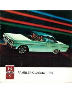1965 RAMBLER CLASSIC BROCHURE NEDERLANDS