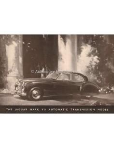 1955 JAGUAR MK VII SALOON BROCHURE ENGELS