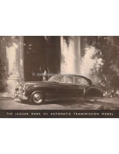 1955 JAGUAR MK VII SALOON BROCHURE ENGLISH