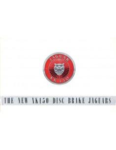 1958 JAGUAR XK150 DISC BRAKE JAGUARS BROCHURE ENGELS