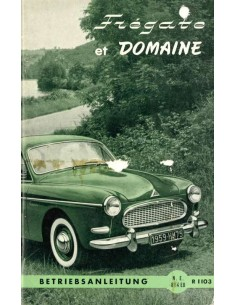 1958 RENAULT FREGATE & DOMAINE BETRIEBSANLEITUNG DEUTSCH