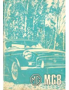 1960 MG MGA 1500 & 1600 INSTRUCTIEBOEKJE ENGELS