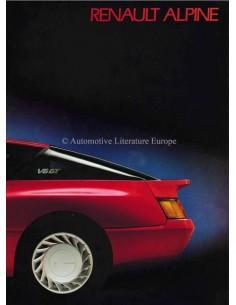 1985 ALPINE GT V6 BROCHURE DUITS