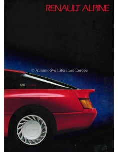 1985 ALPINE GT V6 / GT TURBO BROCHURE DUTCH