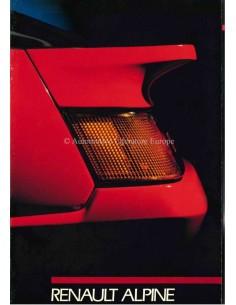 1988 ALPINE V6 TURBO BROCHURE ITALIAANS