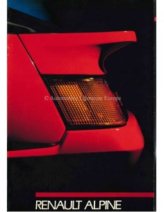 1988 ALPINE V6 TURBO BROCHURE ITALIAN
