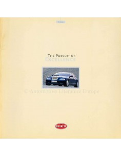1999 BUGATTI THE PURSUIT OF EXCELLENCE BROCHURE DUITS