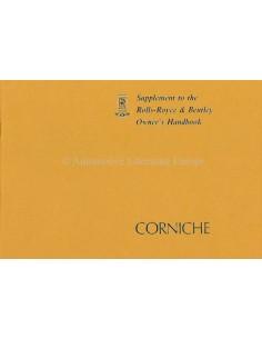 1978 ROLLS ROYCE & BENTLEY CORNICHE BETRIEBSANLEITUNG ZUSATZ ENGLISCH