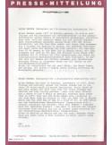 1970 PORSCHE 24 HOURS OF LE MANS PRESSKIT GERMAN / ENGLISH