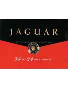 1958 JAGUAR 3.4 AND 2.4 LITRE SEDANS BROCHURE ENGELS