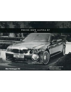 2006 BMW ALPINA B6 COUPE & CONVERTIBLE BROCHURE GERMAN