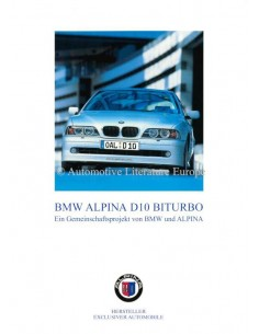 2001 BMW ALPINA D10 BITURBO BROCHURE DUITS