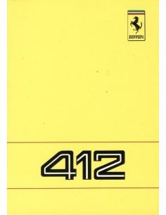 1988 FERRARI 412 INSTRUCTIEBOEKJE