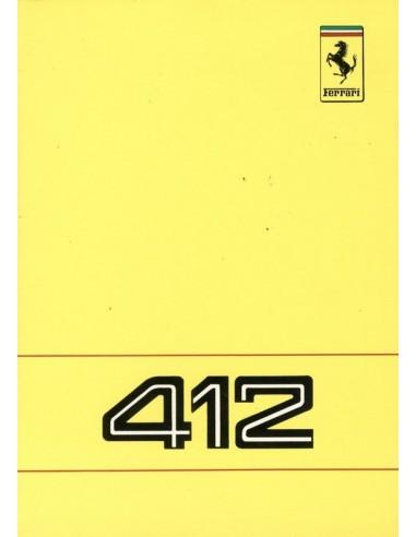 1988 FERRARI 412 INSTRUCTIEBOEKJE 495/88
