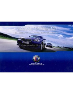 2012 BMW ALPINA GENEVA 2012 RANGE BROCHURE GERMAN