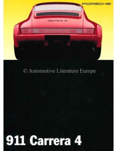 1993 PORSCHE 911 CARRERA 4 BROCHURE ENGLISH