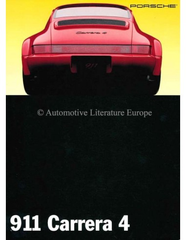1993 PORSCHE 911 CARRERA 4 BROCHURE ENGLISH