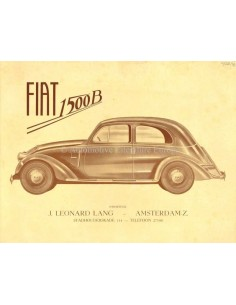 1935 FIAT 1500 B BROCHURE DUTCH