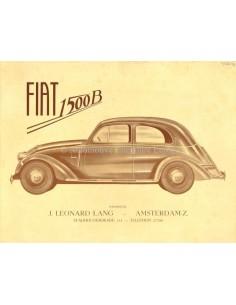 1935 FIAT 1500 B BROCHURE NEDERLANDS