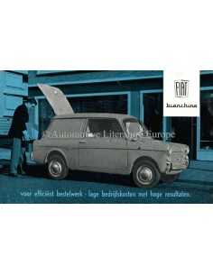 1961 FIAT 500 BIANCHINA VAN BROCHURE DUTCH