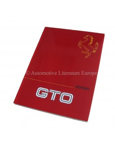 1985 FERRARI 288 GTO OWNER'S MANUAL