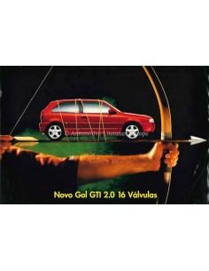 1995 VOLKSWAGEN NOVO GOL GTI 2.0 BROCHURE PORTUGUESE (BRAZIL)