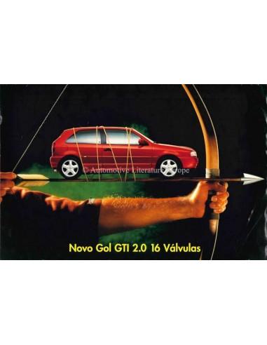 1995 VOLKSWAGEN NOVO GOL GTI 2.0 BROCHURE PORTUGEES (BRAZILIË)