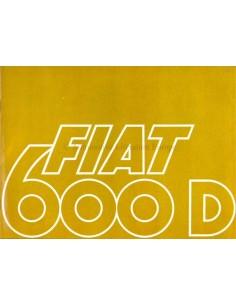 1967 FIAT 600 D & 600 D MULTIPLA PROSPEKT NIEDERLÄNDISCH